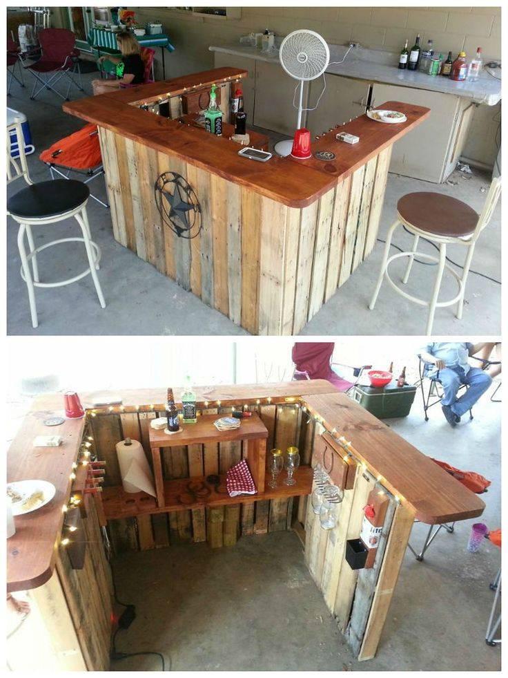 Bar de pallet adega de vinho e outras ideias para seu for Mobili wooden art