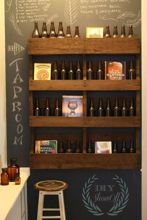 Bar de pallet adega de vinho e outras ideias para seu - Muebles para poner botellas de vino ...