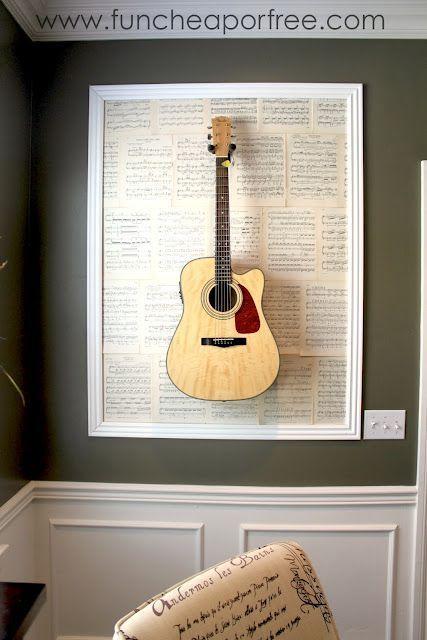 violão na parede