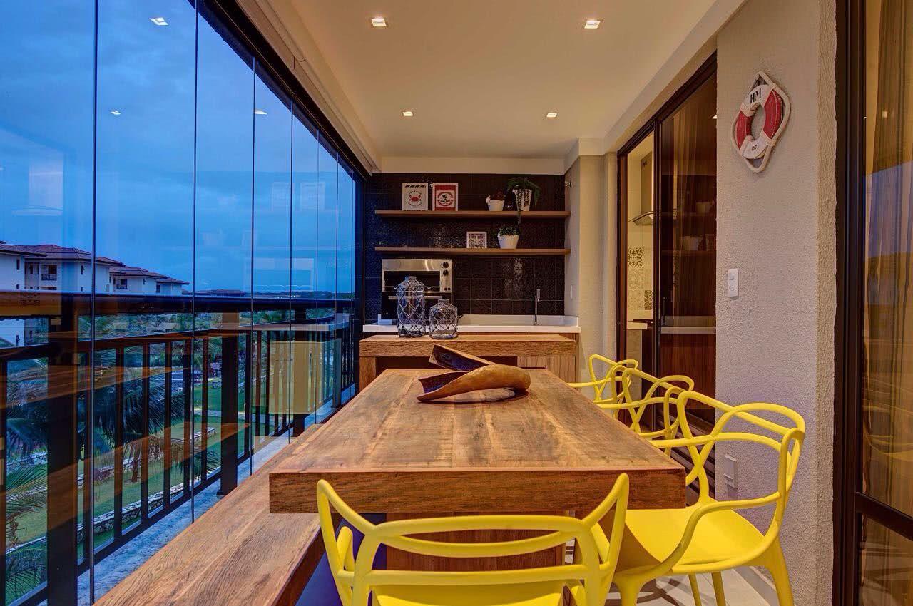Apartamentos decorados com varanda gourmet