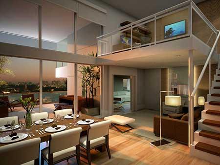 apartamentos decorados de luxo