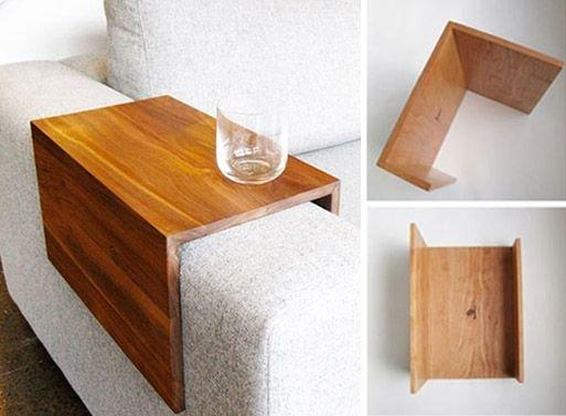 Apoio lateral de sof 10 para voc fazer em casa - Mesita auxiliar sofa ...