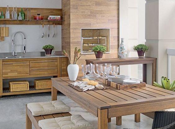 area de churrasco simples