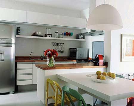 bancada de madeira de cozinha