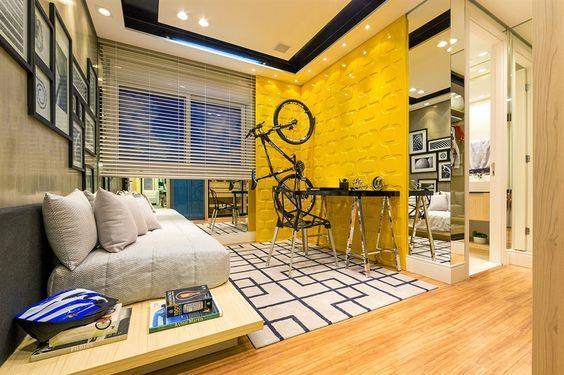 bicicleta na parede