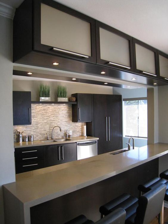 cozinha ligada com sala