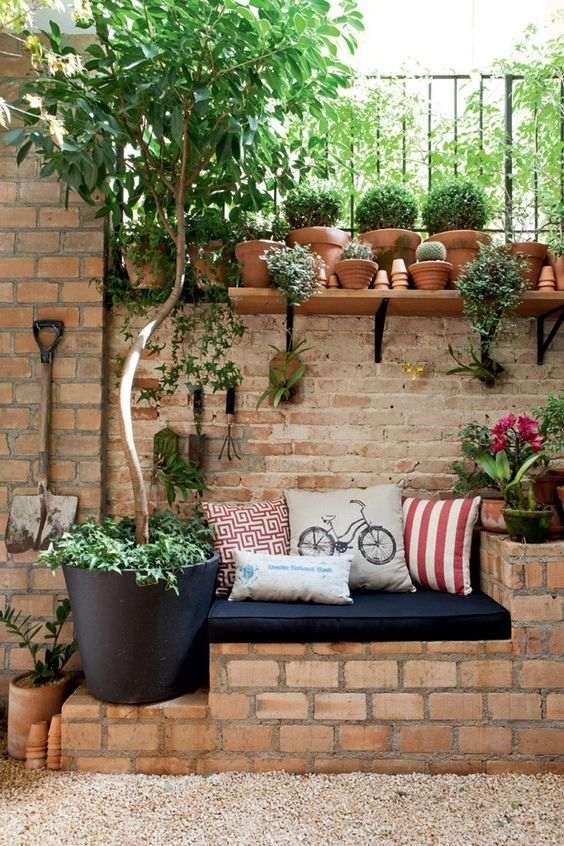 meu quintal meu jardim : meu quintal meu jardim:Área de Lazer Pequena – Uma Opção para Falta de Espaço