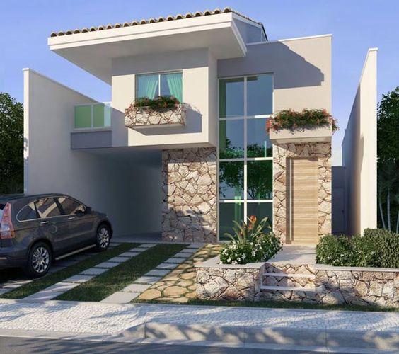 Casas pequenas conhe a fachadas projetos dicas e decora o for Frentes de casas minimalistas