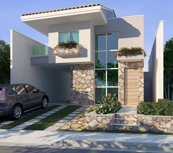 Casas pequenas conhe a fachadas projetos dicas e decora o for Casa modelo minimalista