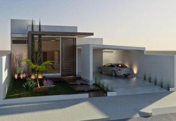 Casas pequenas conhe a fachadas projetos dicas e decora o for Casas pequenas estilo minimalista