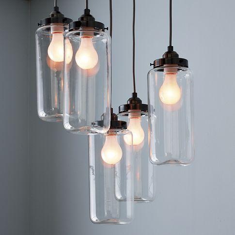 lampadas simples em potes