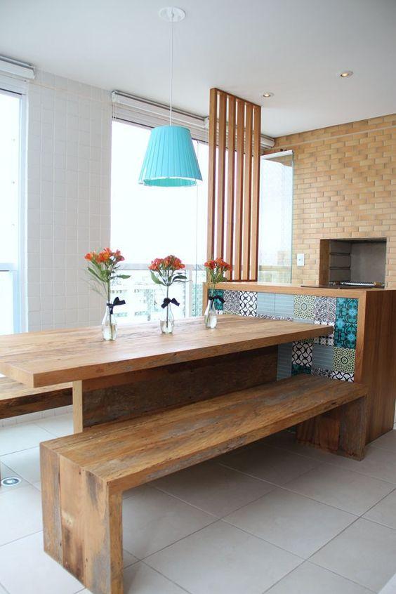 mesa para area de churrasco