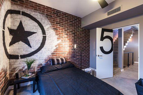 parede decorada em estrela