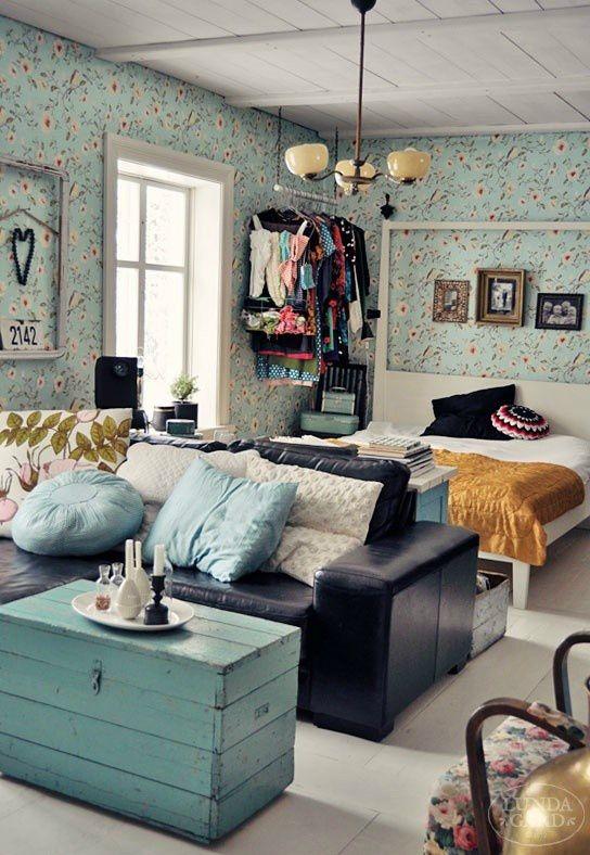 pequena casa decorada