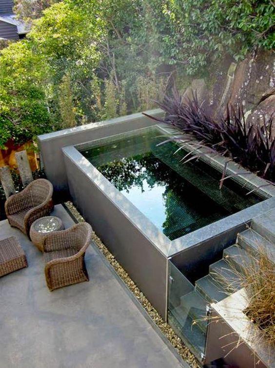 Rea de lazer pequena uma op o para falta de espa o for Decorar piscina elevada