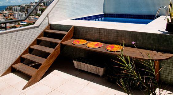Rea de lazer pequena uma op o para falta de espa o - Piscina en terraza peso maximo ...