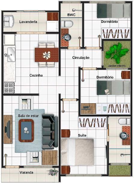 planta casa pequena 12