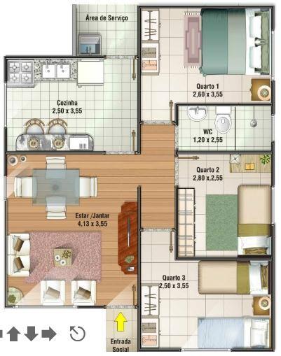 planta casa pequena 14