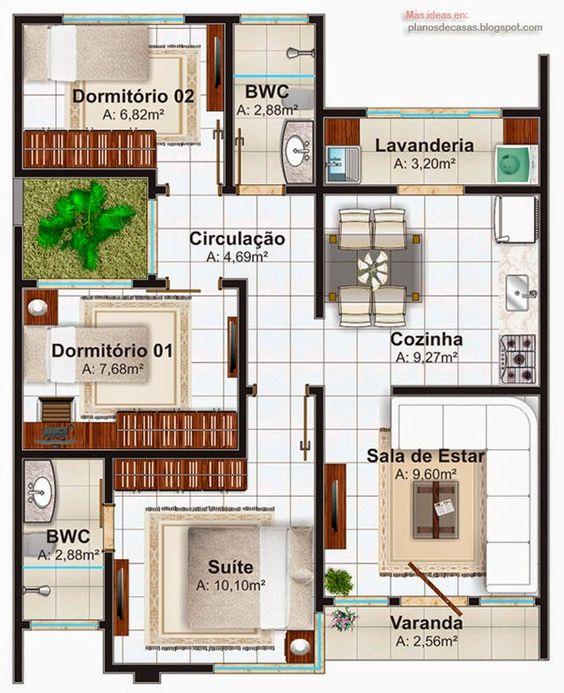 planta casa pequena 8