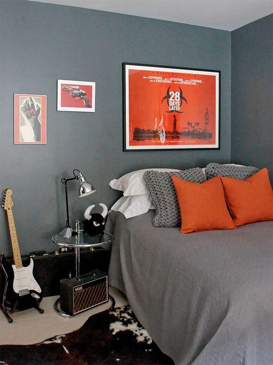 quarto com decoração simples