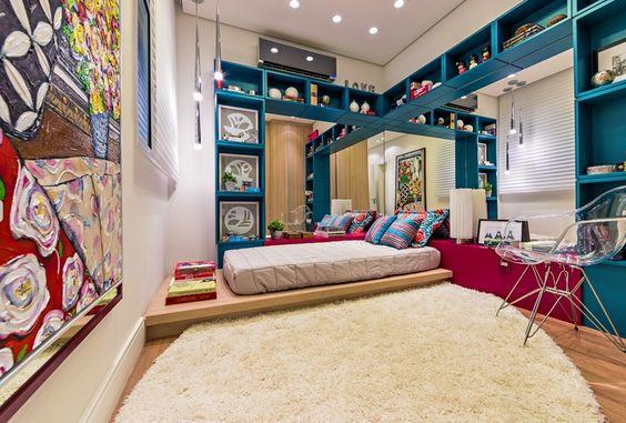 quarto decorado em verde