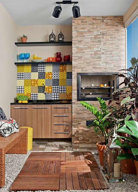 Rea de lazer pequena uma op o para falta de espa o for Restos de azulejos baratos