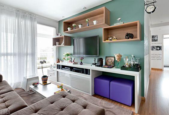 sala decorada simples