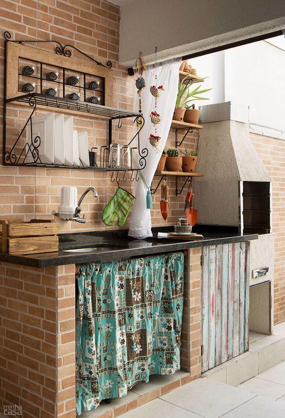 varanda com churrasqueira simples