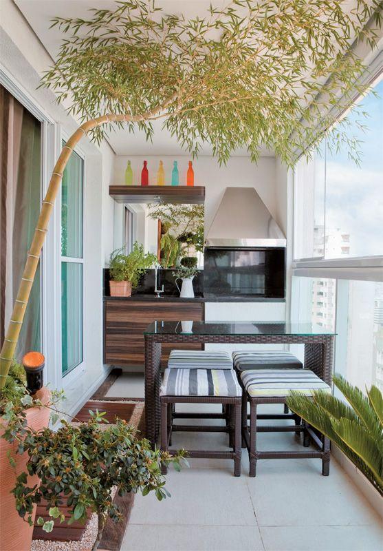 varanda de churrasco em apartamento
