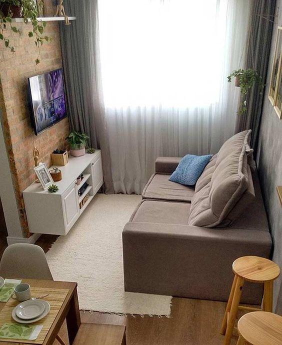 Decoração Para Salas Pequenas: Decoração De Sala Simples E Barata