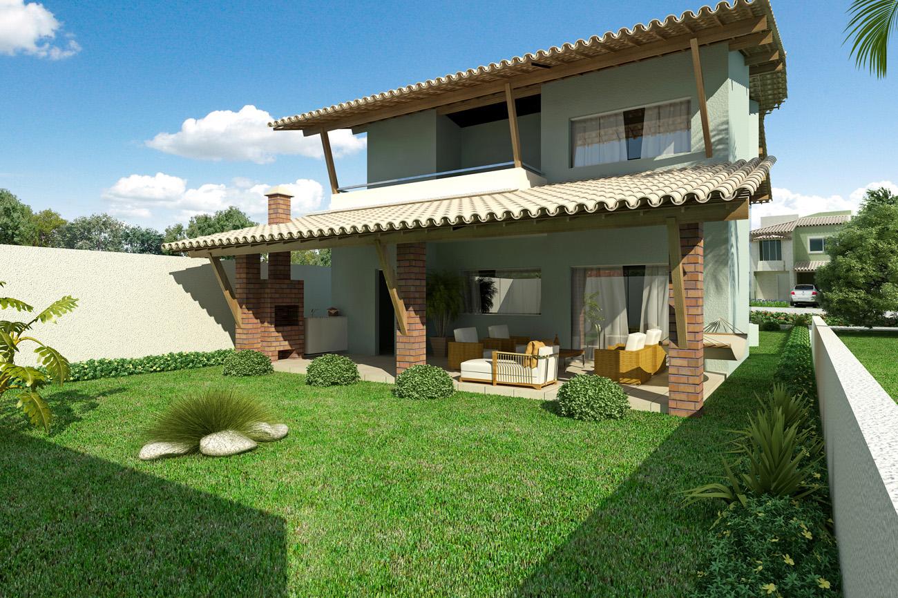 Casas bonitas com varanda