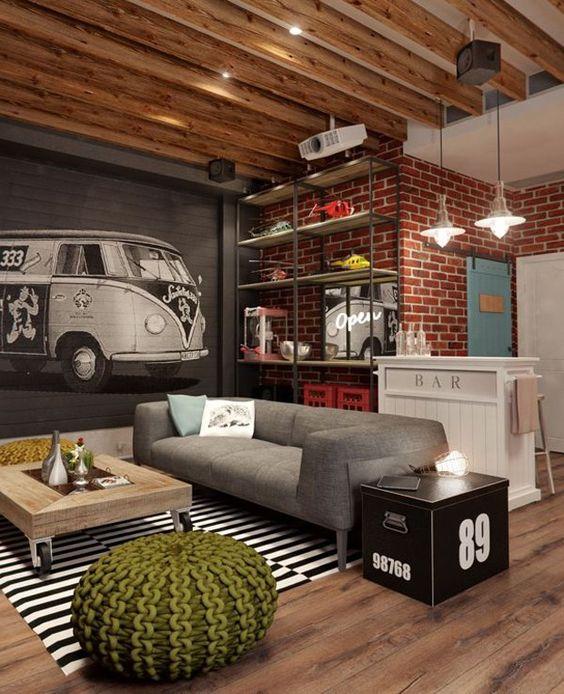 Casas decoradas veja mais de 70 ideias para voc for Casas de estilo industrial