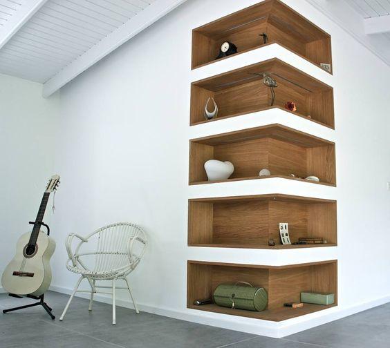 compartimentos na parede