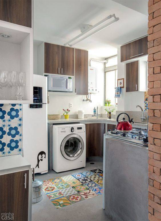 cozinha com area de serviço