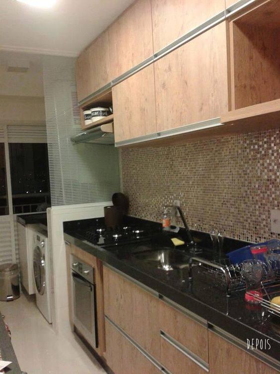 cozinha com balcão em mármore