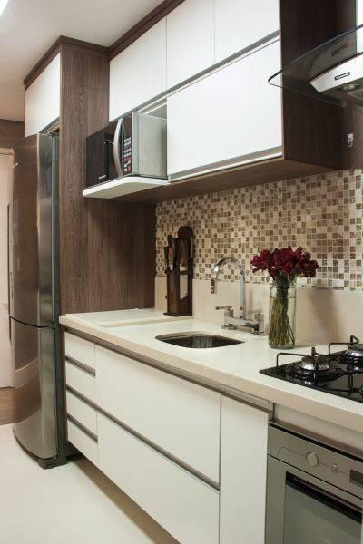 cozinha com gavetas planejadas