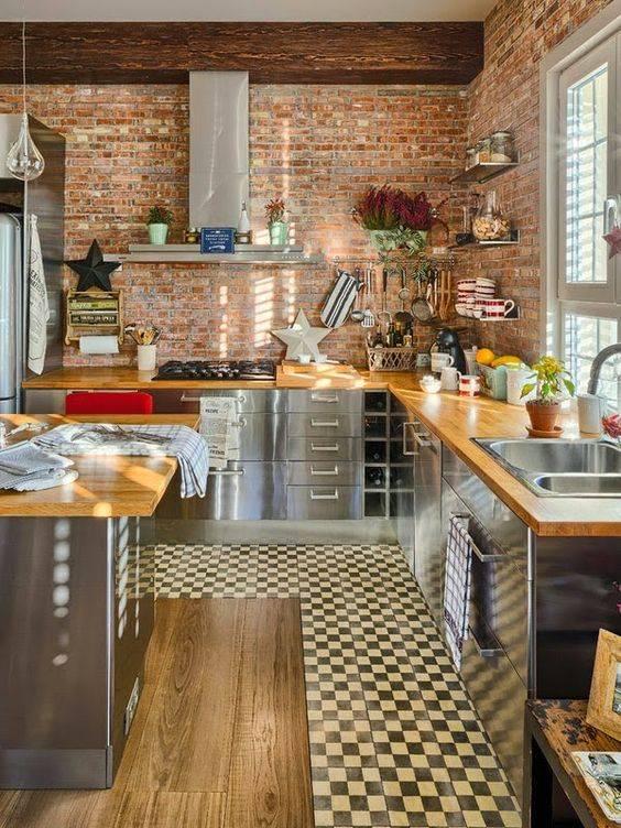 cozinha com pegada rustica