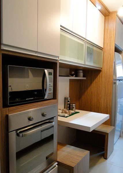 Cozinha planejada 207 modelos com dicas e projetos 2017 for Modelos de apartamentos pequenos