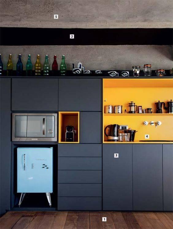 cozinha detalhes em amarelo