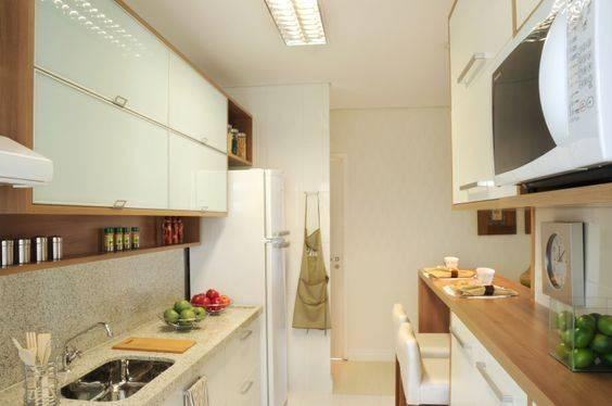 cozinha dois lados ocupados