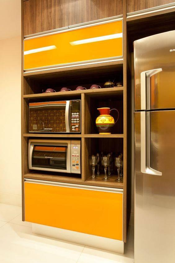 cozinha em detalhes amarelos