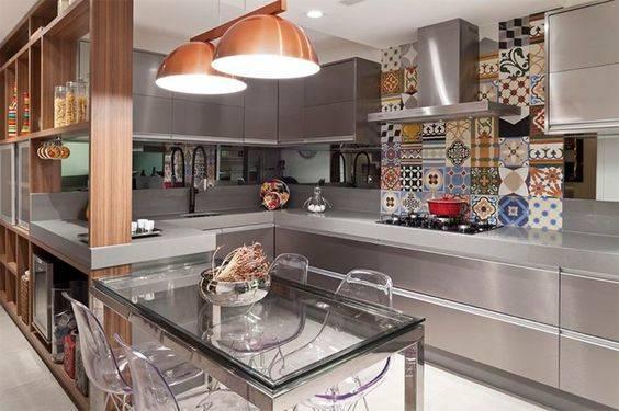 cozinha inox modulada