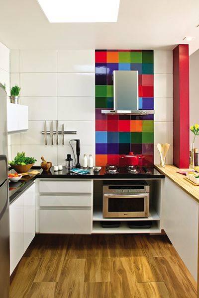 cozinha modulada colorida