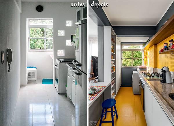 cozinha planejada antes e depois