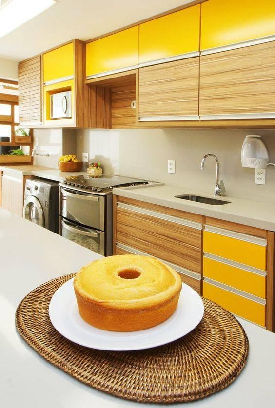 cozinha projetada amarela