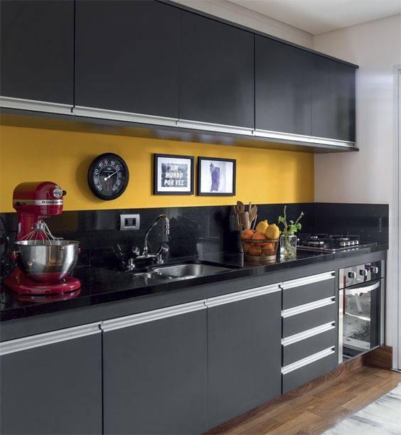 cozinha projetada reta
