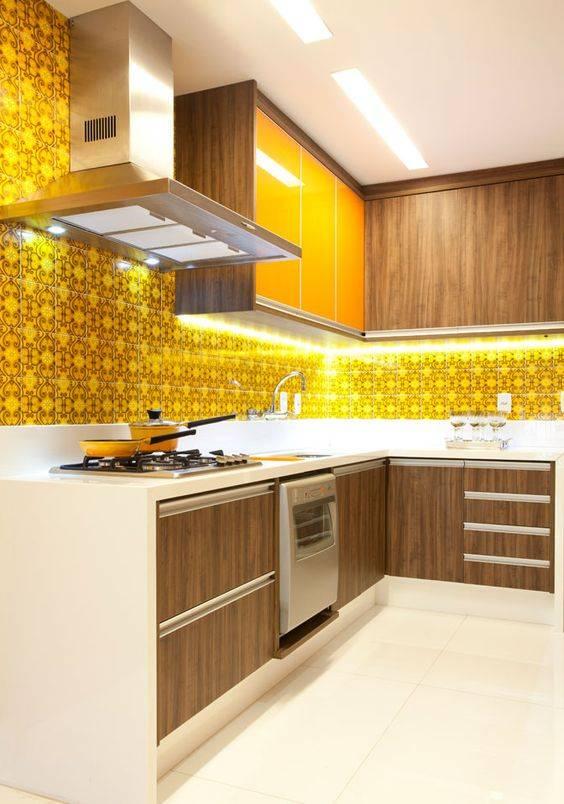 decoração amarela na cozinha