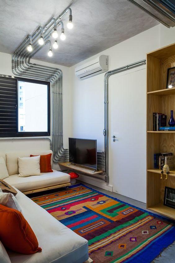 Decora o de sala simples e barata renove sua sala com for Casa minimalista rustica