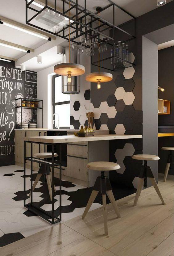 Casas decoradas veja mais de 70 ideias para voc - Iluminacion estilo industrial ...