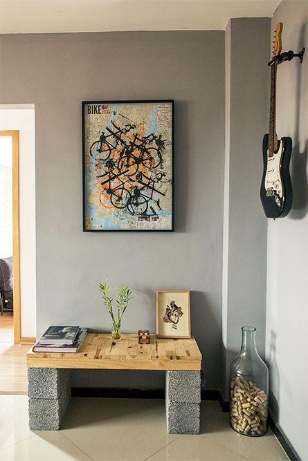 guitarra na parede